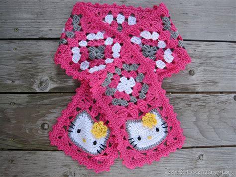 pattern crochet hello kitty hello kitty granny square scarf free crochet pattern