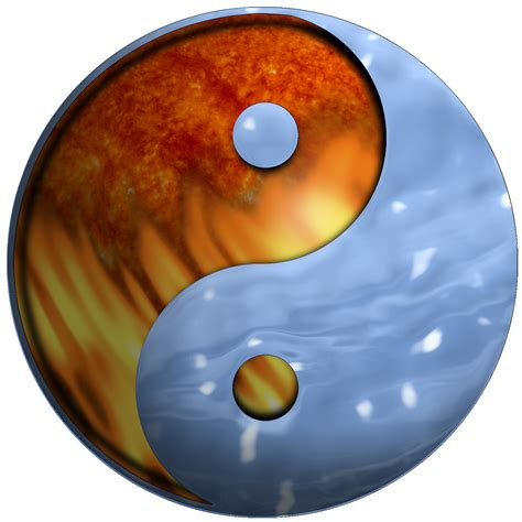 yin yang ice fire ice fire cold water fire yin