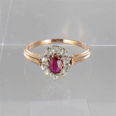 antique ruby gold engagement ring at 1stdibs