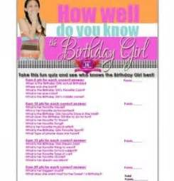 Printable Games For Sweet 16 Party | sweet 16 birthday girl quiz sweet 16 party ideas