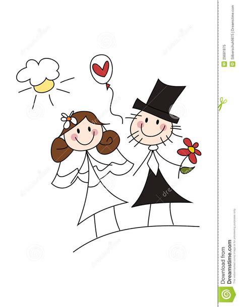 doodle happy wedding happy wedding stock illustration image