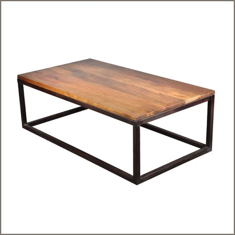large rustic industrial iron wood 52 coffee table