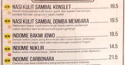 harga menu warunk upnormal terbaru