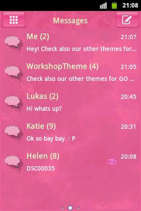cute themes go sms pink cute sweet theme go sms android apps on google play