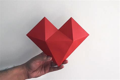 Paper Craft Hearts - diy paper hat 3d papercraft b design bundles