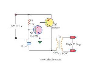 high voltage mini power supply by 2n2222 electronic