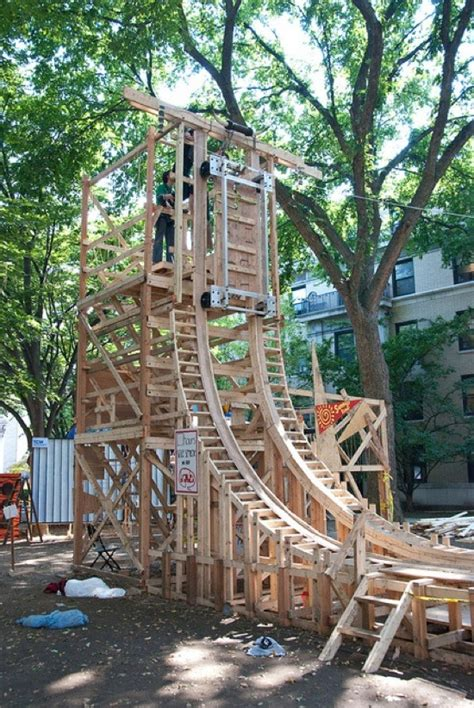 backyard wooden roller coaster ride the reverse cowgirl 171 outdoor games wonderhowto