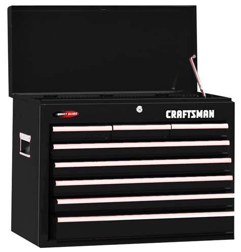 craftsman 6 drawer tool box quiet glide chest craftsman 8 drawer quiet glide chest black tools