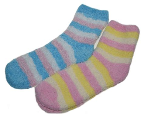 bed socks womens striped bed socks 2 pairs fluffy soft fleece