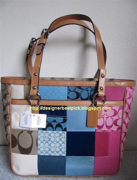 Coachs Colorful New Patchwork Satchel by Designer Best Coach New Arrival Patchwork Tote Bag