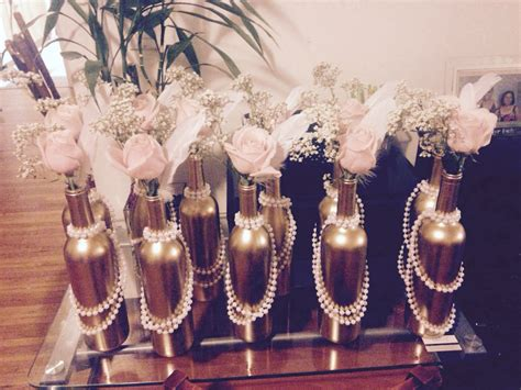 pearl themed events cheap and easy center pieces for a 1920s themed party or