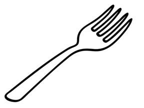 Fork And Spoon Clip Art Basic sketch template