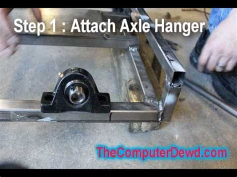how to build a go kart : part 4 : back axle youtube
