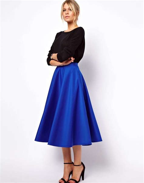 1000 ideas about mid length skirts on skirts