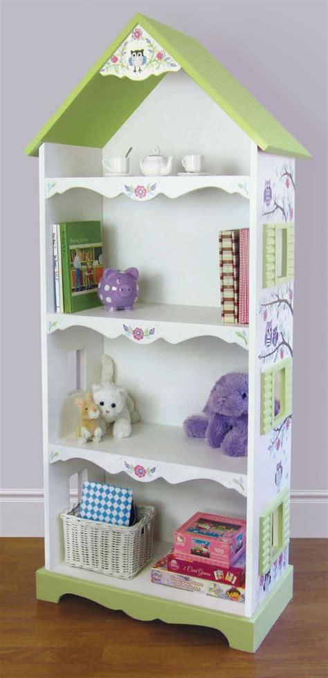 Cafe Kid Dollhouse Bookcase owl vine dollhouse bookshelf handpainted ebay