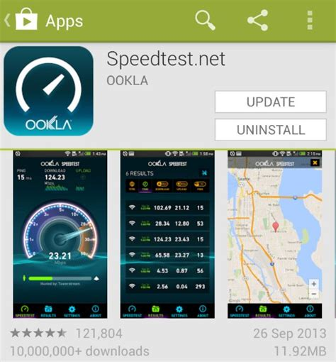 speedtest for android speedtest for android gets a rather snazzy looking update
