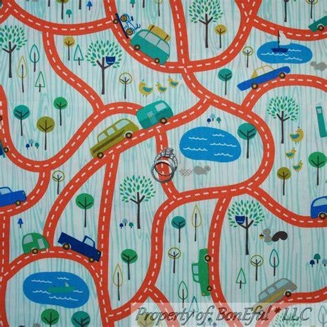 Quilt Fabric For Boys by Boneful Fabric Fq Cotton Flannel Quilt Blue B W Boy Baby Truck Car Road Map Ebay