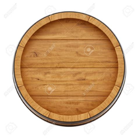 26506616 render of a wine barrel from top isolated on
