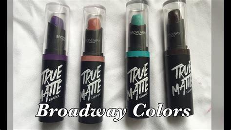 broadway colors true matte lipsticks part 2 dollar
