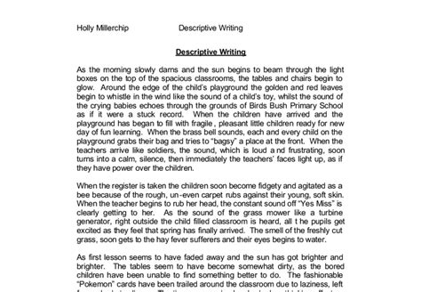 Description Of A Place Essay by How To Do A Descriptive Essay Write A Descriptive Essay Academic Essay How To Conclude A
