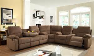Sectional Sofas With Recliners 3pc Transitional Modern Sectional Recliner Fabric Sofa Set