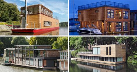 types of houseboats 11 awesome exles of modern house boats contemporist