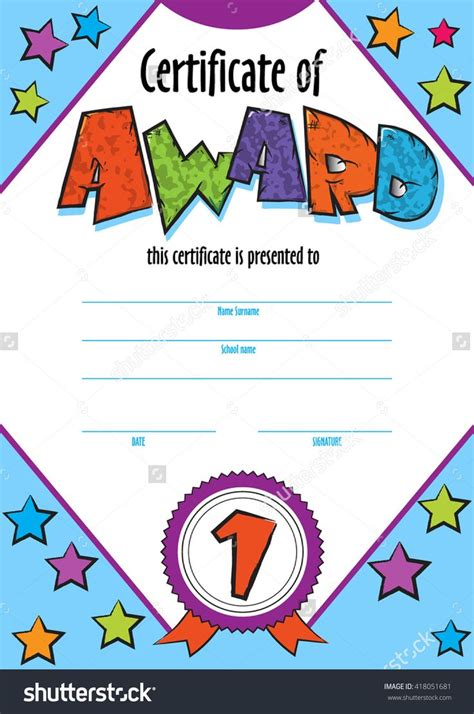 certificate of competition winner template child certificate to be awarded kindergarten