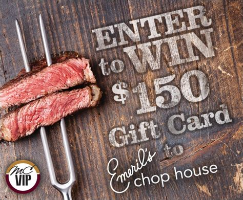 Chop House Gift Card - emeril s chop house at the sands gift card giveaway sweepstakes winner mc vip