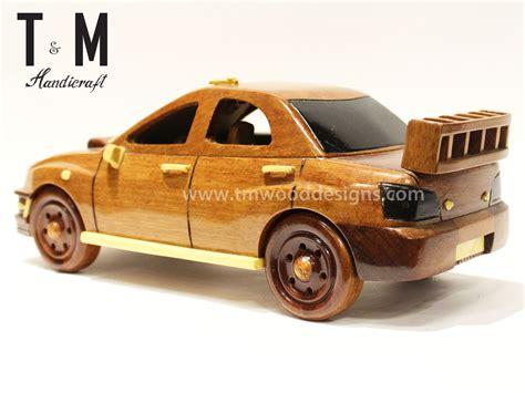wooden car subaru car handcrafted mahogany wooden model car wood