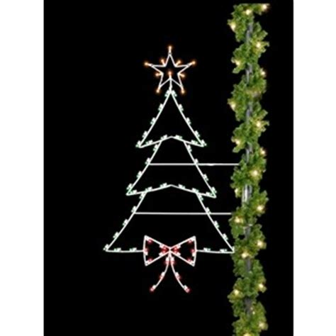 how to mount a chrismas tree silhouette light pole decorations