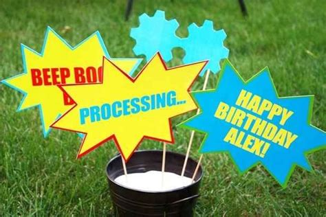 22 adorable ideas for an epic robot themed birthday party 17 best images about mason s 3rd on pinterest monster