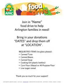 can food drive flyer template flyers afac