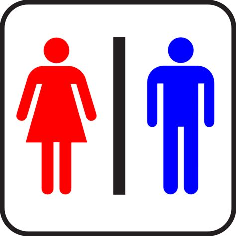 Colored Sign Bathroom Wc Man Woman Clip Art At Clker