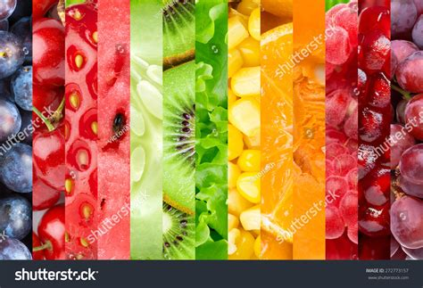 healthy color pictures healthy food background collection color fruits stock