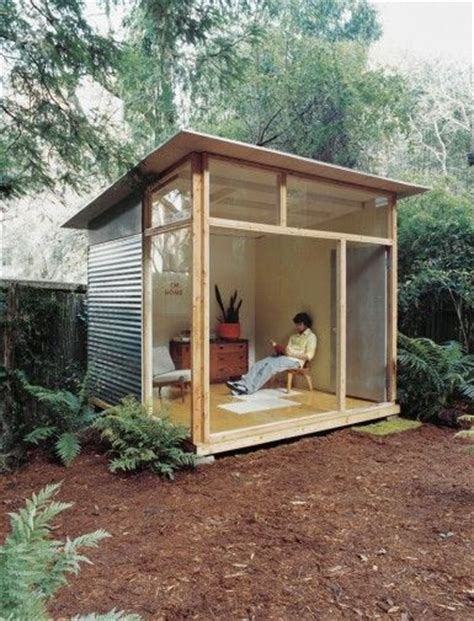 build backyard office edgar blazona s diy modern shed office yoga studio