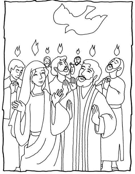 pentecost several coloring pages great ideas hobbies