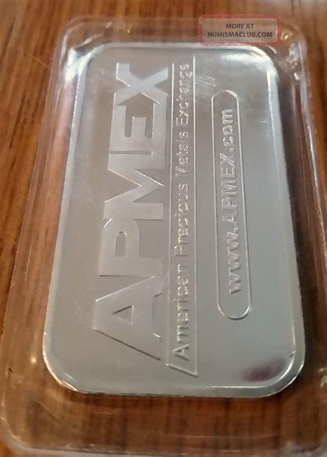 1 oz apmex silver bar 999 apmex 1 troy oz silver bar 999 uncirculated in cover