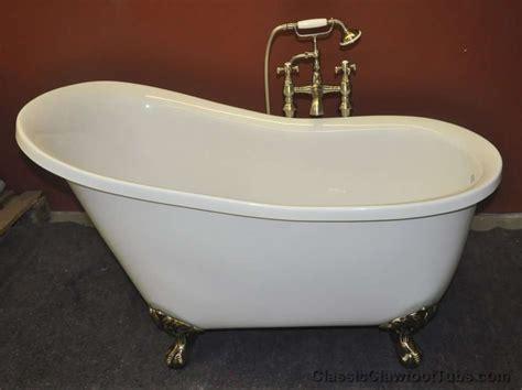 acrylic clawfoot bathtub 51 quot acrylic slipper clawfoot tub classic clawfoot tub