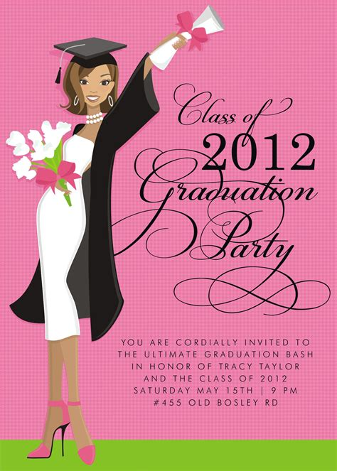 Graduation Announcement Template Card by Graduation Invitation Template Card Invitation