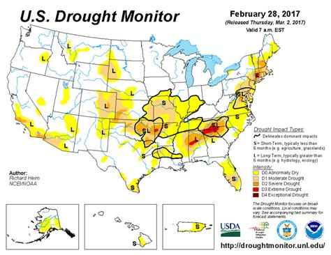 louisiana drought map the southeast just had one of its warmest winters wxshift
