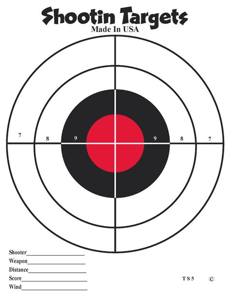 free printable targets 8 5 x 11 50 8 5x11 black and red bullseye paper shooting targets