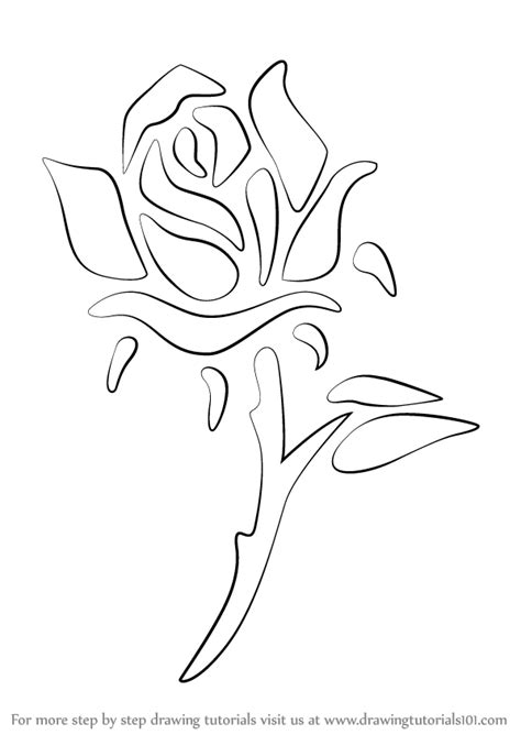 how to draw a tattoo rose learn how to draw a step by step