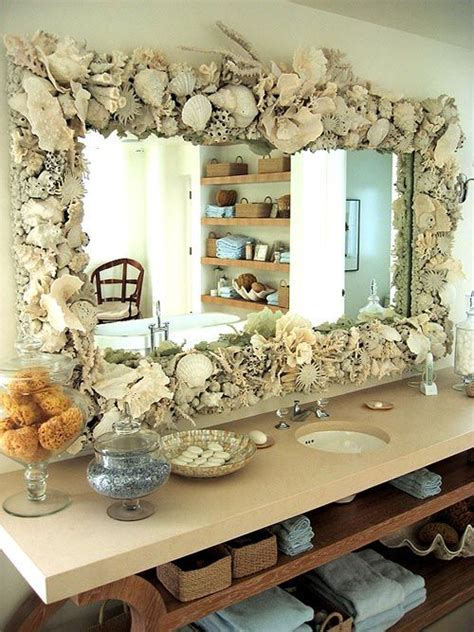 beach house bathroom mirrors beach house large shell mirror by mili la mancha beach pinterest bathroom beach