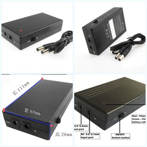 smart portable mini ups 12v 2a 2000mah black jakartanotebook