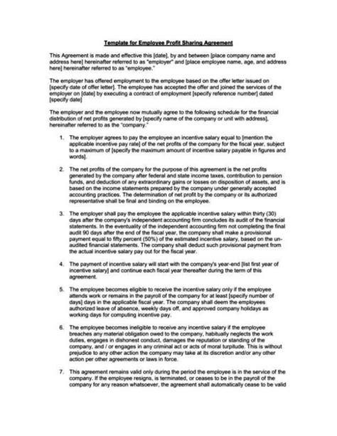 profit contract template profit contract template sletemplatess
