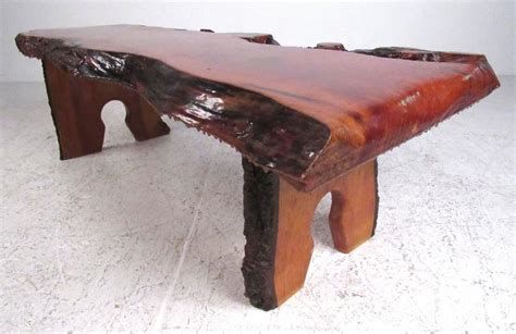 live edge coffee table shimna live edge slab coffee table for sale at 1stdibs