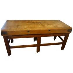 butcher block table at 1stdibs vintage restored industrial maple butcher block table