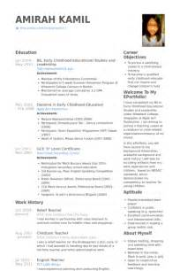Sle Resume For Educators by Ece Instructor Resume