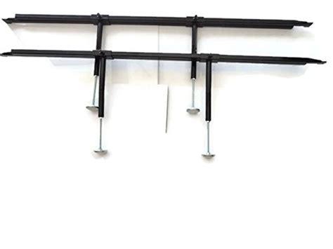 Bed Frame Slat Center Support Leg Universal Bed Slats Center Support System Adjustable Tubular Steel With 4 Legs