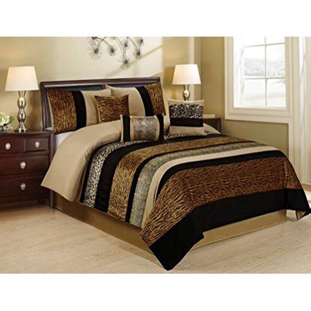bedding sets clearance queen 7 samber fuax fur patchwork clearance bedding comforter set fade resistant wrinkle free